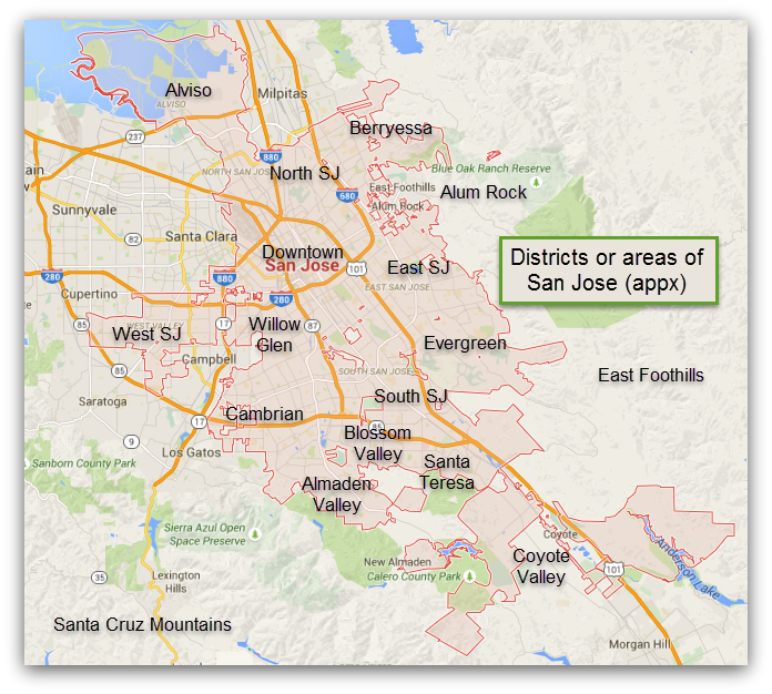 San Jose Neighborhood Map - San jose crime rate map