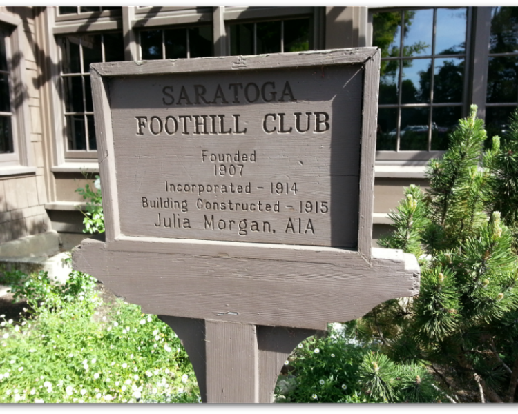 Saratoga Foothill Club Julia Morgan designed