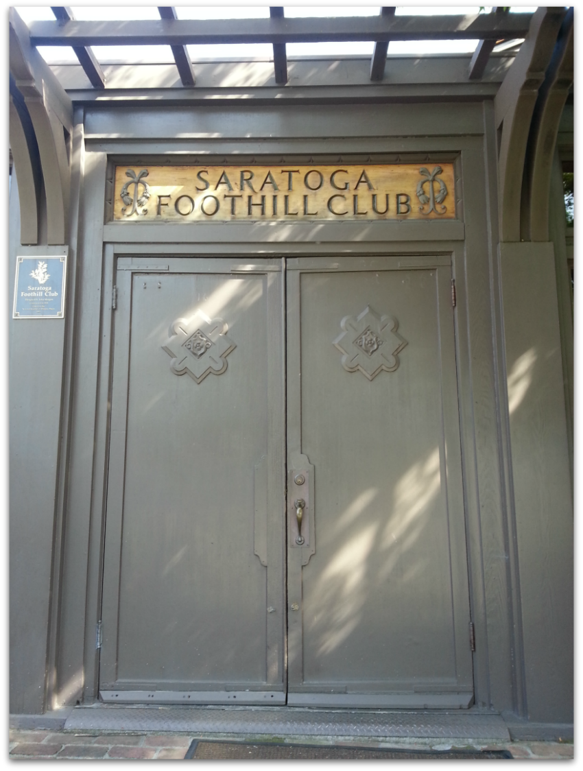 Saratoga Foothill Club - designed by Julia Morgan