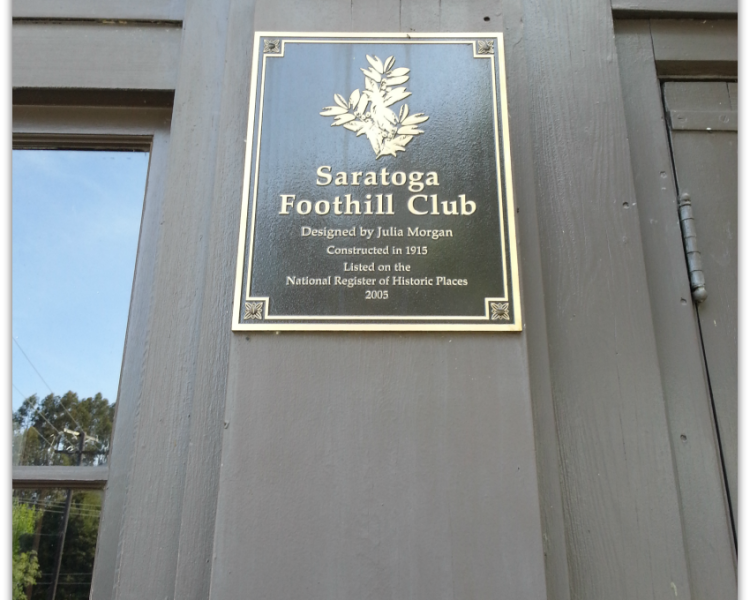 Saratoga Foothill Club plaque