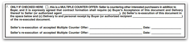 PRDS Counter offer and multiple counter offer form