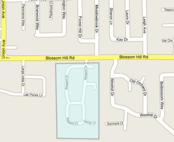 Map of Heritage Grove area