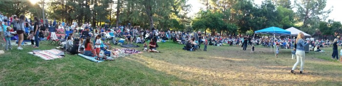 Almaden Music in the Park crowd July 7 2016