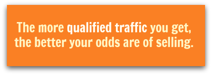 More qualified traffic increases the odds of selling a home