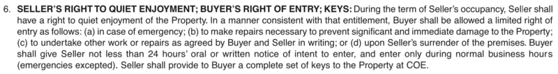 PRDS Rentback form right of entry