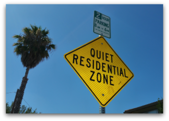 Sign - Quiet Residential Zone in the University Square neighborhood of Santa Clara