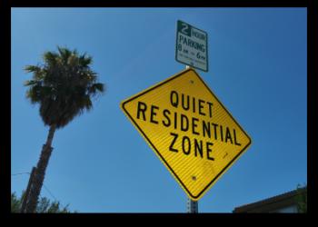Sign - Quiet Residential Zone in the University Square neighborhood of Santa Clara