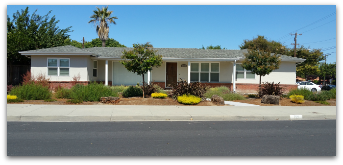 Spread out ranch style house in the University Square neighborhood of Santa Clara