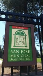 Sign for the San Jose Municipal Rose Garden