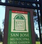 Sign for the San Jose Municipal Rose Garden
