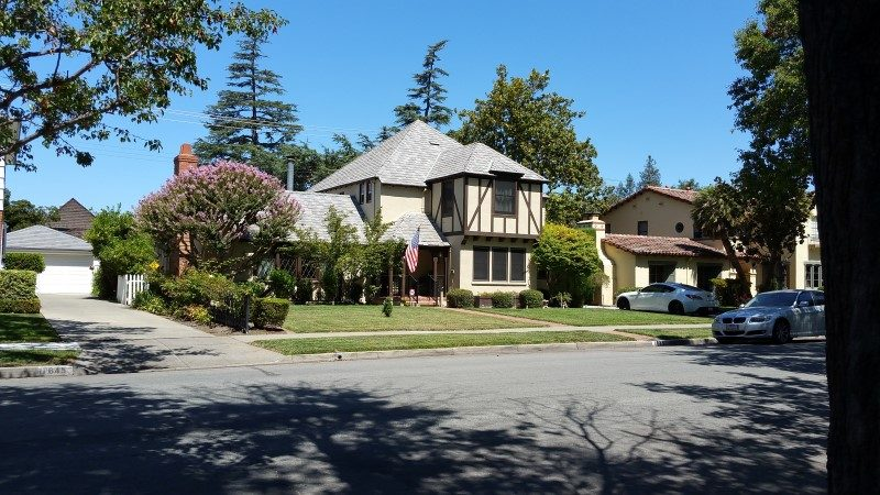 Tudor style home in the Rose Garden Neighborhood in Central San Jose