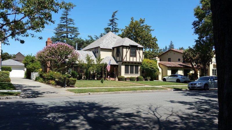 Tudor style home in the Rose Garden Neighborhood in Central San Jose