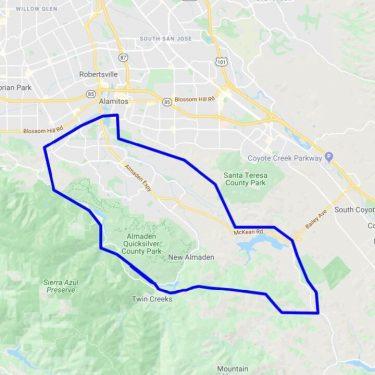 Almaden Valley Map