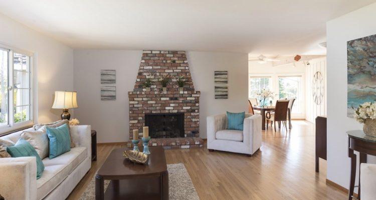 Living room at  Woodbank Way, Stga, Calif.
