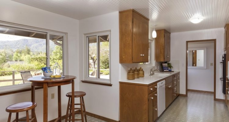 Kitchen and breakfast nook with spectacular views.  Laundry is nearby but not shown.