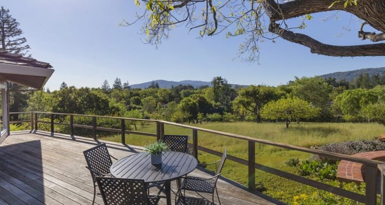 Expansive view from the deck at  Woodbank Way, Saratoga CA