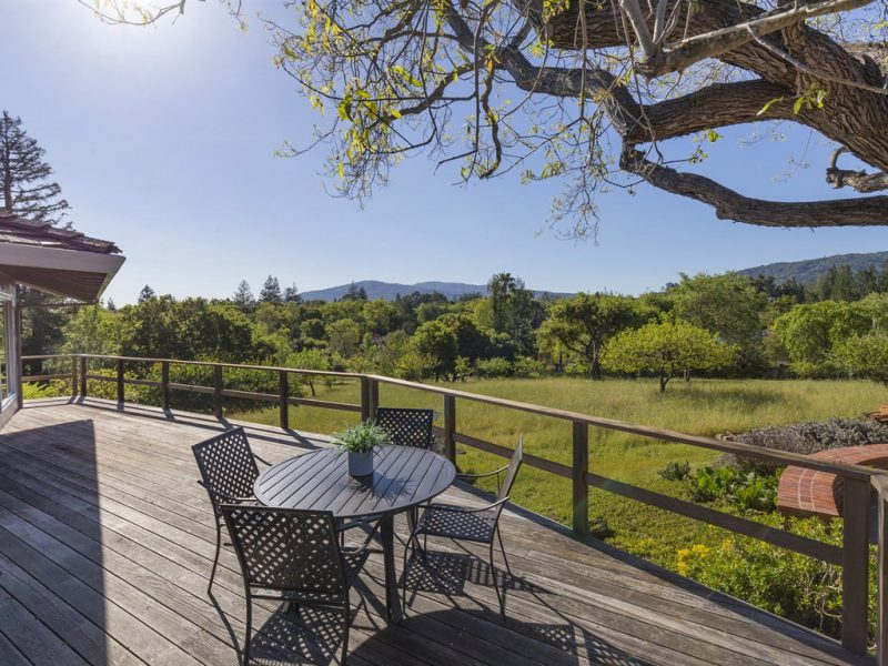 18632 Woodbank Way, Saratoga CA 95070 with stunning view of the mountains and orchard