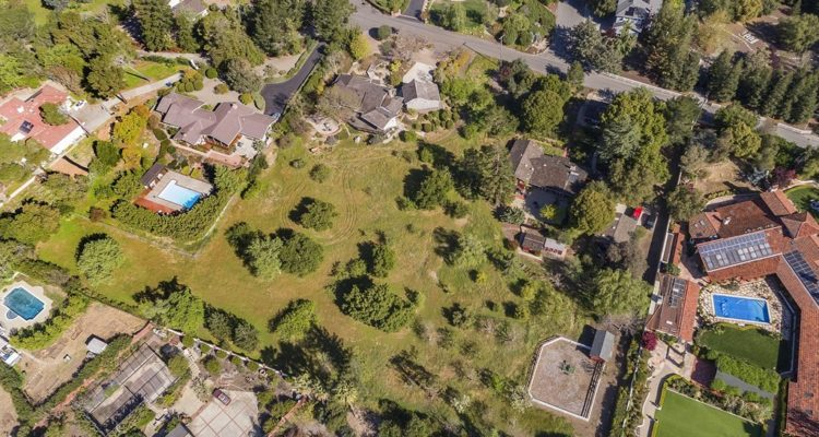 Another aerial view of 18632 Woodbank Way, Saratoga, CA 95070