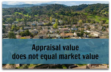Appraisal value does not equal market value