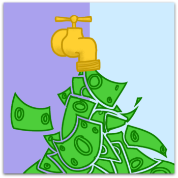 money faucet graphic