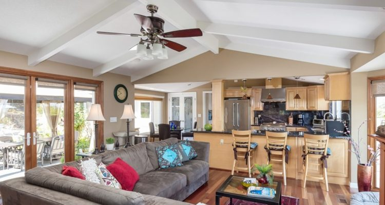 The heart of the home, the open kitchen and family room of 211 Westhill Drive