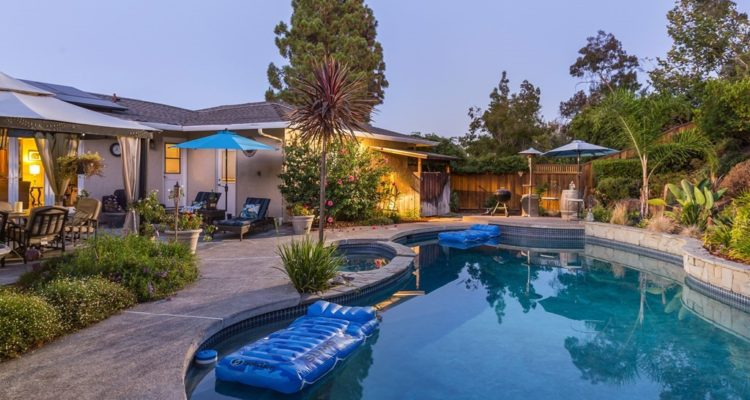Sundown at the pool