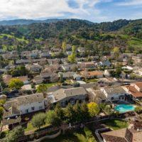 Aerial view of Belwood of Los Gatos neighborhood