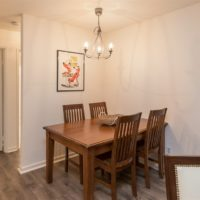 Dining area, which is open to both the kitchen and living areas.