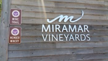 Miramar Vineyards in San Martin sign - 700 px