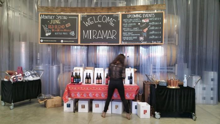Miramar Vineyards wine tasting (Custom)