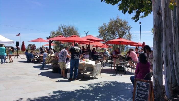 Beautiful patio area for wine and picnics