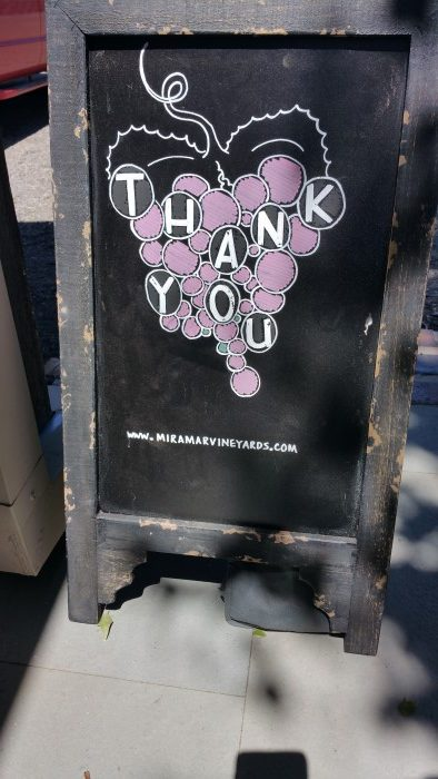 Miramar thank you board for exiting patrons