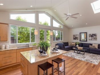 Spectacular open living concept kitchen and family room at 1190 Crestline Dr Cupertino