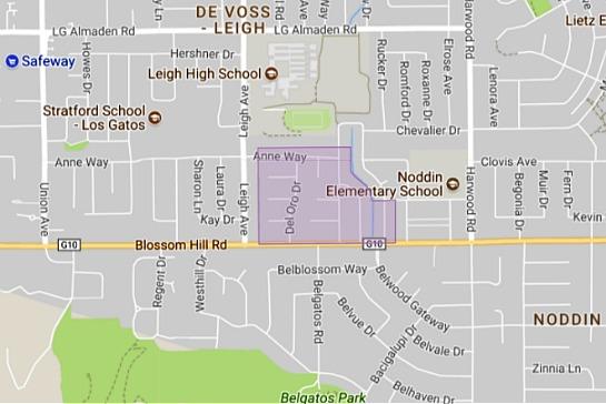Del Oro neighborhood in Cambrian area of San Jose