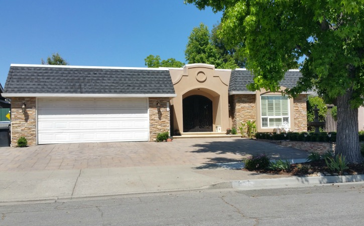 French style with Mansard roof in Del Oro residential area of Cambrian