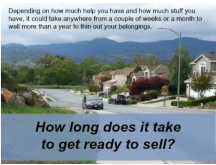 How long does it take to get ready to sell
