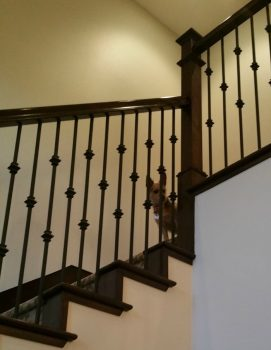 Contemporary staircase with narrower baluster spacing