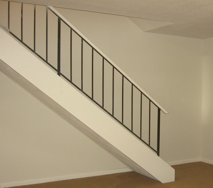 Stair rail wide spacing