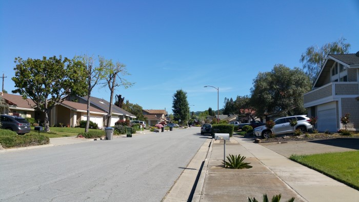 Orchard Creek neighborhood, San Jose CA 95120 - view of one of the streets