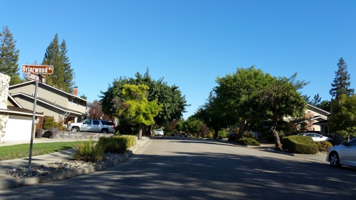 Briarwood and Cambrian View Way in the Strathmore neighborhood in Los Gatos