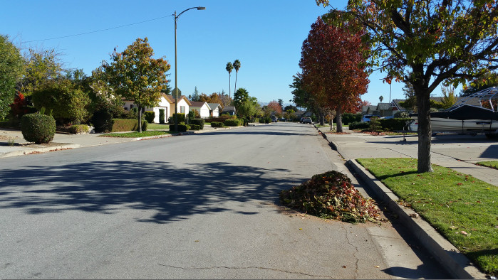 Street view in Cambrian Acres, San Jose, 95124