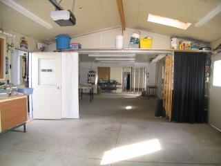Partial view of 5 car garage in San Jose