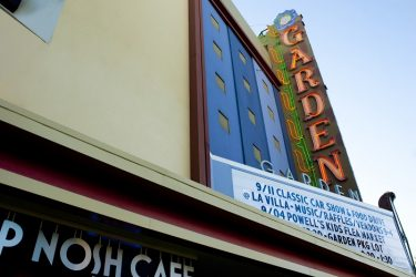 Willow Glen Garden Theater sign