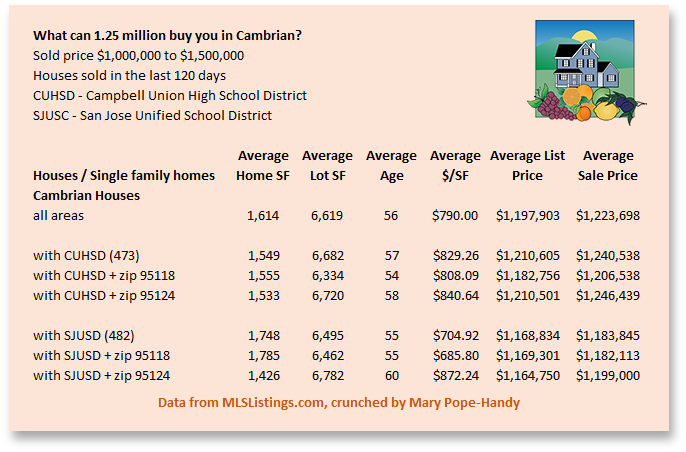Cambrian housing costs - What can you buy in Cambrian for $1.25 mil 02-2020