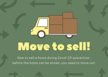 How to sell a home during Covid-19 quarantine - move out so that it can be shown