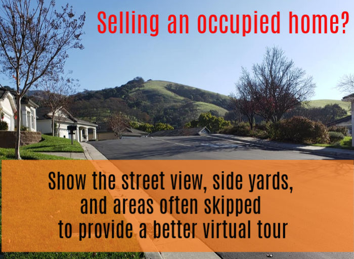 Selling an occupied home - photo of a street view - show the street view, side yards, and areas often skipped - photo of street view in The Villages