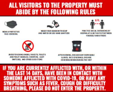 Rules for entry - coronavirus home viewing rules