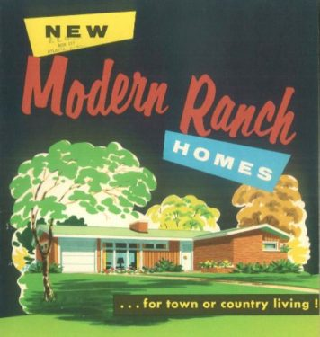 New modern ranch homes for town or country living by the National Plan Service, Inc (1956) on Archive.org