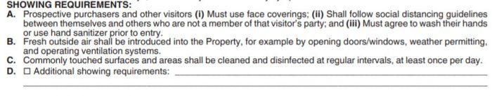 Part of the new listing agreement addendum for open houses, LOHA.
