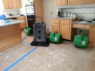 Kitchen refrigerator flood Dec 17, 2012